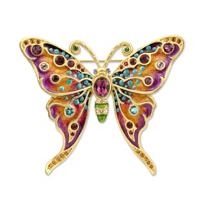 "Jay_Strongwater_Grand_Butterfly_Pin,_3.5""_wide,_3""_tall"