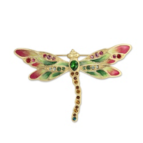"Jay_Strongwater_Rose_Celadon_Candice_Bejeweled_Dragonfly_Pin,_3.75""_wide,_2.5""_tall"