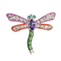 "Jay_Strongwater_Fuschia_Emily_Dragonfly_Tack_Pin,_1.5""_wide,_1""_tall"