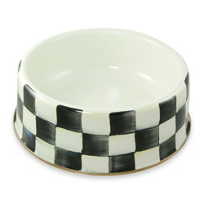 courtly check: MacKenzie-Childs Courtly Check Pet Dish