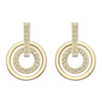 Swarovski_Gold-Plated_Circle_Mini_Pierced_Earrings
