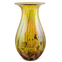 "Glass_Eye_Studio_Desert_Gold_Raindrop_Vase,_7""_Height"