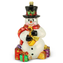 Christopher_Radko_Jazzman_Snow_Ornament