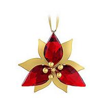 Swarovski_Gold-Tone_Poinsettia_Ornament
