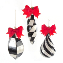 MacKenzie-Childs_Jester_Pearly_Ornaments,_Set_of_3