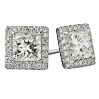 18K_White_Gold_Princess_Cut_Diamond_Earrings_With_Round_Diamond_Halos,_1.62cttw