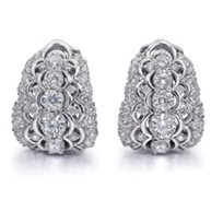 Christopher_Designs_18K_White_Gold_Crisscut_Round_and_Round_Diamond_Huggy_Style_Earrings