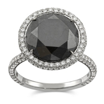 18K_White_Gold_Rose_Cut_Black_Diamond_Ring