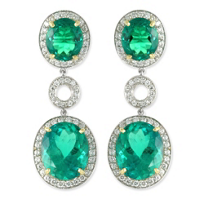 18K_Emerald_and_Diamond_Earrrings