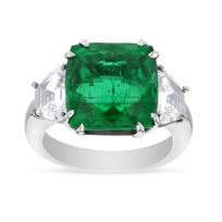 Platinum_Modified_Cushion_Cut_Emerald_and_Diamond_Ring,_8.17_ct