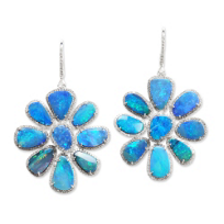 18K_White_Gold_Boulder_Opal_Doublet_and_Diamond_Flower_Earrings