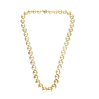 18K_Yellow_Gold_Golden_South_Sea_Cultured_Pearl_and_Diamond_Necklace,_18""