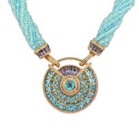 18K_Rose_Gold_Bellarri_Blue_Topaz,_Iolite_and_Diamond_Necklace