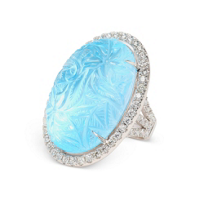 18K_White_Gold_Carved_Blue_Topaz_and_Diamond_Ring