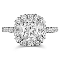 Henri_Daussi_18K_White_Gold_Cushion_Diamond_and_Round_Diamond_Halo_Ring,_3.10cttw