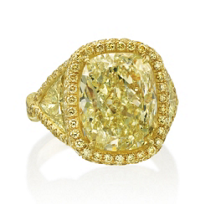 J.B._Star_18K_Yellow_Gold_Fancy_Yellow_Cushion_Diamond_Ring