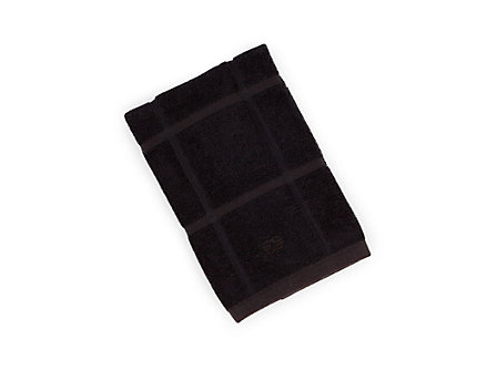 Textiles Black Licorice Solid Terry Kitchen Towel