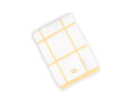 Textiles Lemon Checked Terry Kitchen Towel