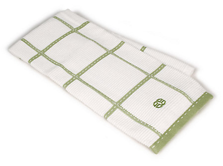 Textiles Green Apple Checked Terry Kitchen Towel