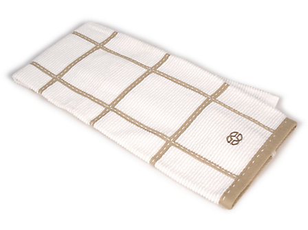 Calphalon 17x30-in. Terry Towel: Biscotti Check