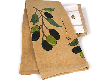 Calphalon 17x30-in. Kitchen Towel: Olives