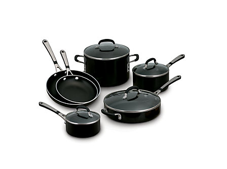 Simply Calphalon Enamel 10-pc. Cookware Set