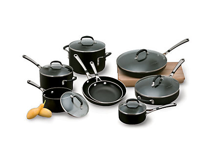Simply Calphalon Enamel 14-pc. Cookware Set