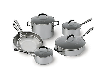 Simply Calphalon Stainless 10-pc. Cookware Set