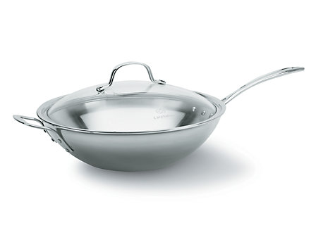 Calphalon Tri-Ply Stainless Steel 12-in. Stir Fry Pan