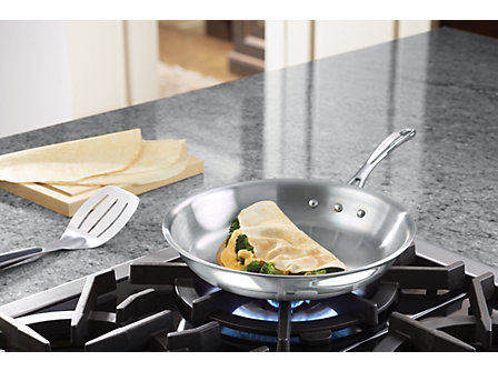 Calphalon Tri-Ply Stainless Steel 10-in. Omelette Pan