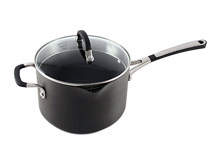 Simply Calphalon Nonstick 4-qt. Pour and Strain Sauce Pan