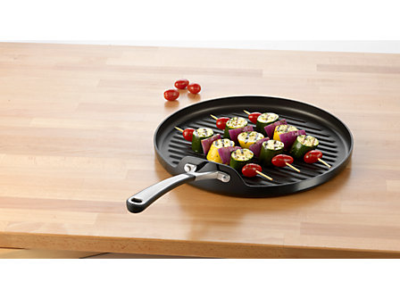 Simply Calphalon Enamel 13-in. Non-Stick Enameled Grill Pan: Black