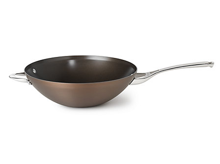 Calphalon Contemporary Bronze Nonstick 12-in. Flat Bottom Wok