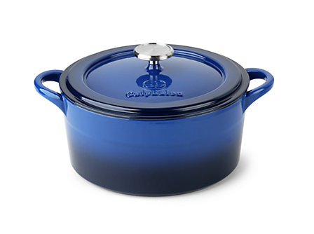 Simply Calphalon Enamel Cast Iron 5-qt. Dutch Oven: Blue