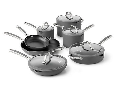 Simply Calphalon Easy System 12-pc. Cookware Set: Charcoal Gray