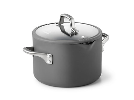 Simply Calphalon Easy System 6-qt. Stockpot: Gray