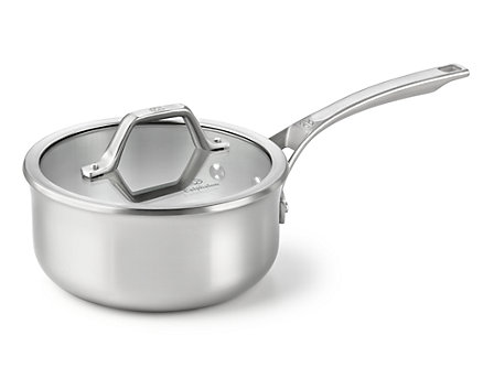 Calphalon AccuCore 2.5-qt. Shallow Sauce Pan with Cover: Stainless Steel