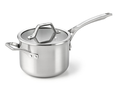 Calphalon AccuCore 3-qt. Sauce Pan with Cover: Stainless Steel