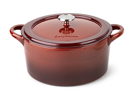 Simply Calphalon Enamel Cast Iron 7-qt. Dutch Oven: Red