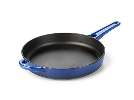Simply Calphalon Enamel Cast Iron 10-in. Fry Pan: Blue