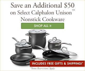 Special Savings on Select Unison Cookware Sets