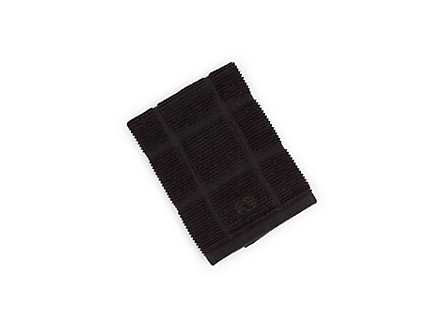 Textiles Black Licorice Solid Terry Dish Cloth