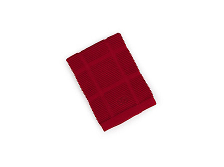 Textiles Tomato Red Solid Terry Dish Cloth