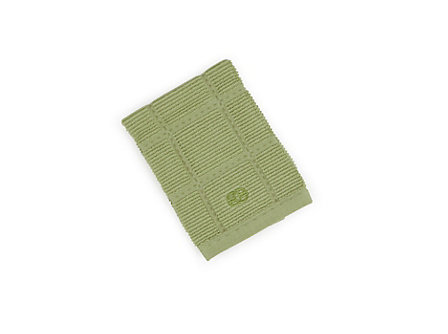 Textiles Green Apple Solid Terry Dish Cloth