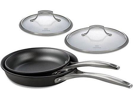 Calphalon Unison Nonstick 4-pc. Skillet Set with Lids