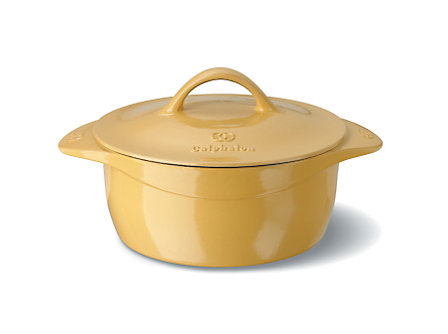 Calphalon Enamel Cast Iron 5 Qt. Round Dutch Oven - Custard