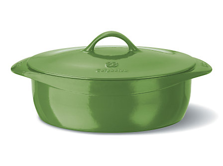 Calphalon Enamel Cast Iron 8 Qt. Oval Dutch Oven - Chive
