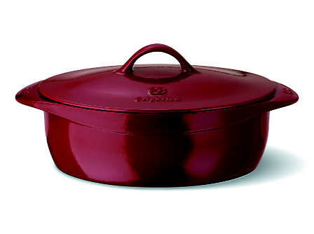 Calphalon Enamel Cast Iron 8 Qt. Oval Dutch Oven - Cabernet