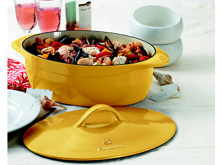 Calphalon Enamel Cast Iron 8 Qt. Oval Dutch Oven - Custard