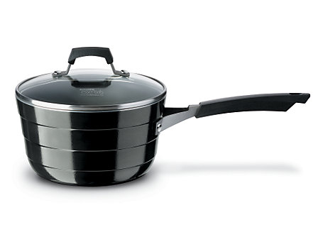 Kitchen Essentials Styleware Black 3 Qt. Sauce Pan with Cover